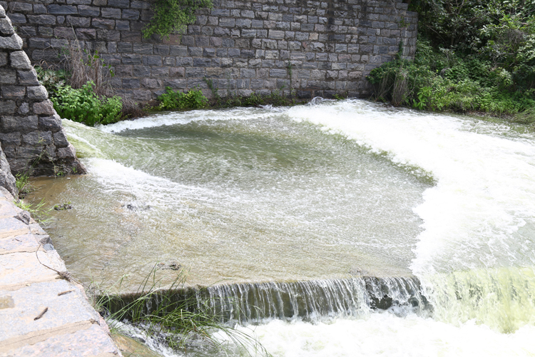 Water in one of the anicuts