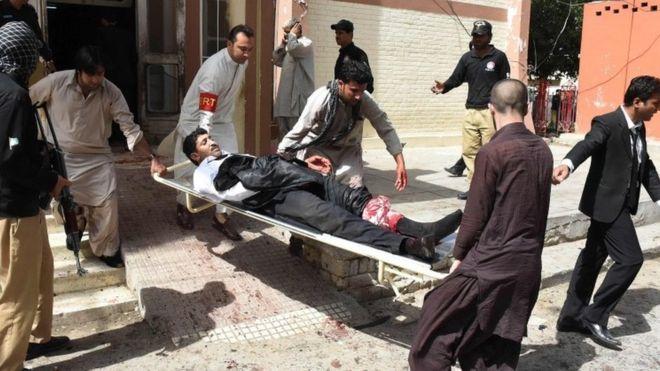 Bombing in Pakistani hospital (Photo courtesy: AFP)