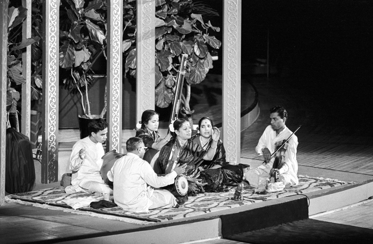 Subbulakshmi: M.S. Subbulakshmi performing at the General Assembly Hall, on Oct. 23, 1966, as part of the United Nations Day celebrations. Photo credit: United Nations/IANS