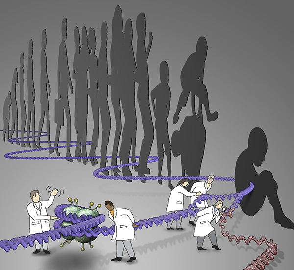 Scientists suggest that mutations in genetic regulatory elements may be important in both autism spectrum disorder and human evolution. Image: Kenneth Xavier Probst/Xavier Studio