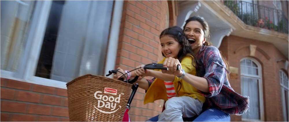 Deepika Padukone in Britannia Good Day Smile More Campaign