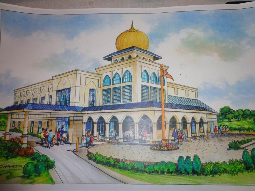 Artist rendering of new Gurdwara in Westborough, MA
