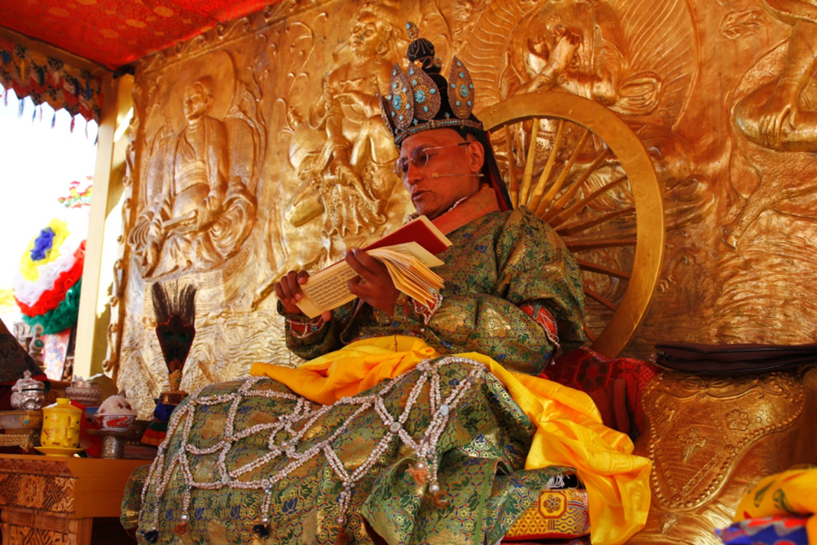 The recently concluded weeklong Naropa festival that witnesses unveiling of a 60-foot-tall silk embroidery brocade of Buddha Amitabha at the newly-built Naro Palace near the Hemis Monastery, some 40 km from Leh in Jammu and Kashmir.
