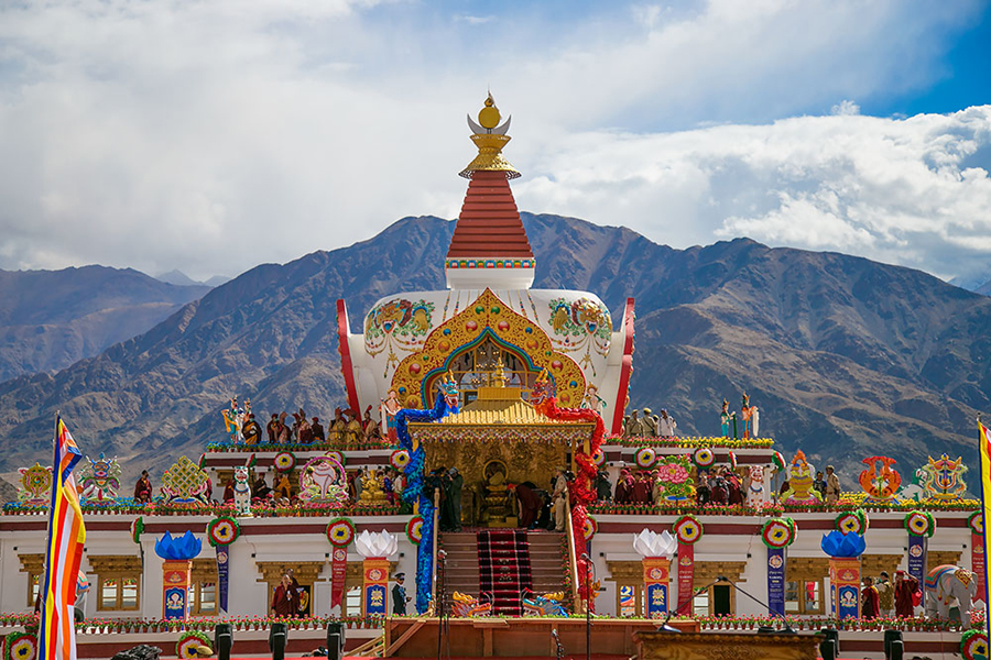 A view of the Naro Palace near the Hemis Monastery, some 40 km from Leh in Jammu and Kashmir, where the weeklong Naropa festival concluded recently.