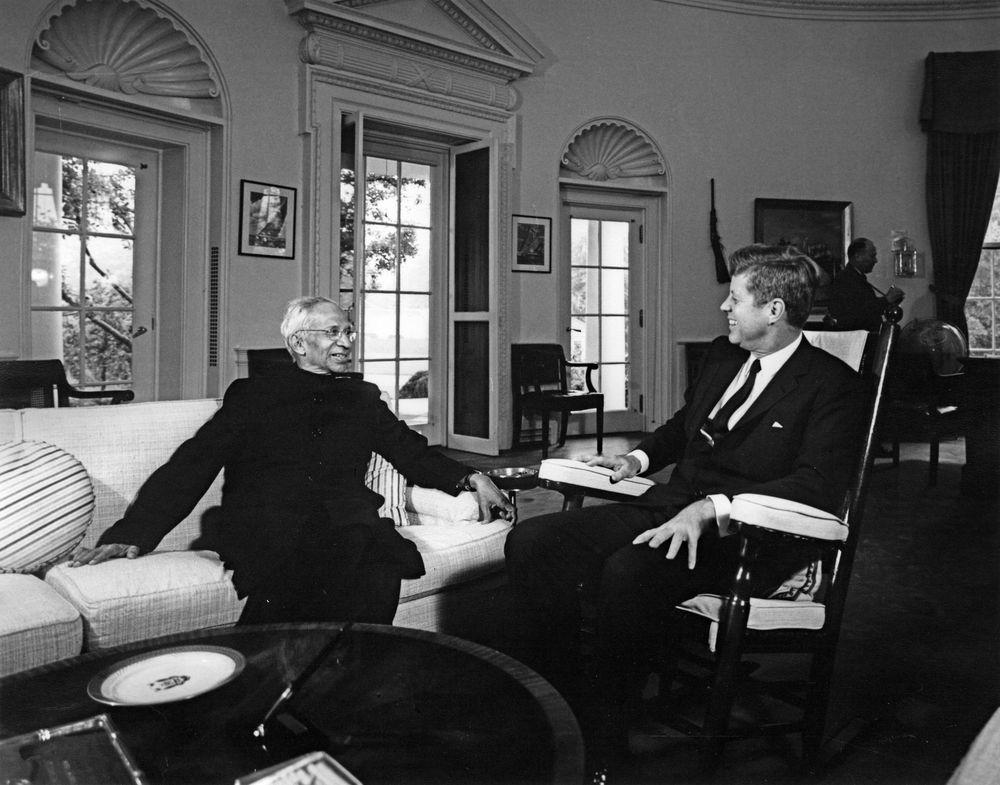 President S. Radhakrishnan meets US President John F Kennedy