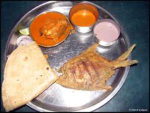 Sindhudurg-Typical Malvan lunch plate