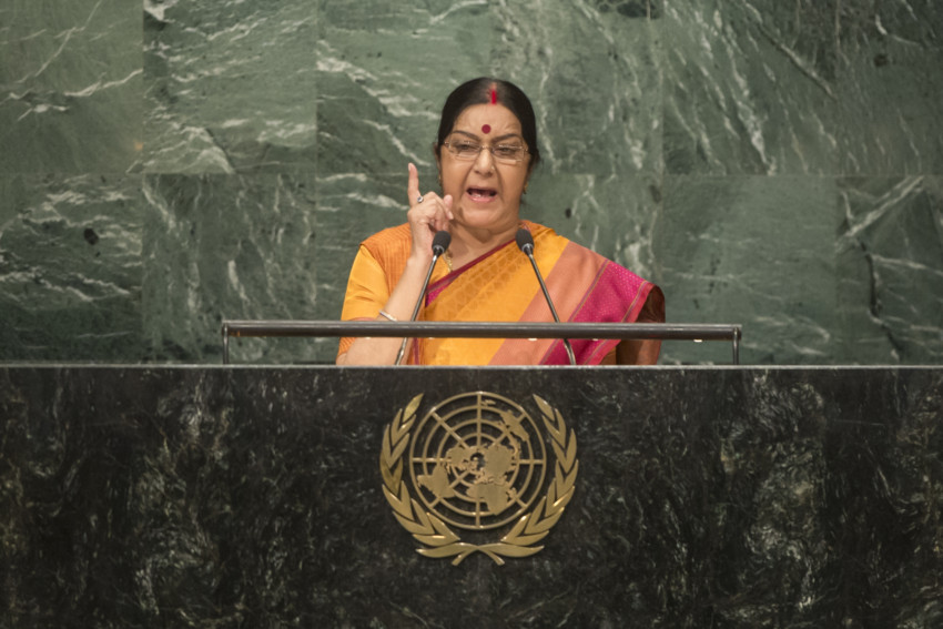 India H.E. Ms. Sushma Swaraj Minister of External Affairs General Assembly Seventy First Session: 23rd plenary meeting
