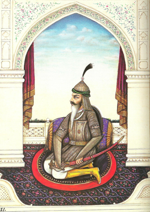 A portrait of Sikh warrior Hari Singh Nalwa