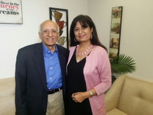 Puran Dang with Dreamcatchers host Dr. Manju Sheth