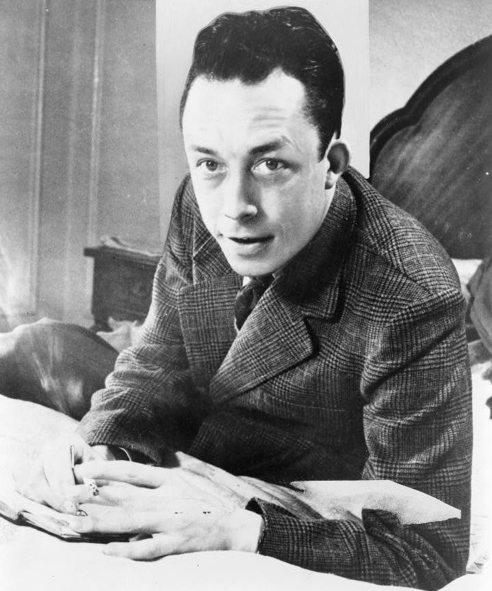 French journalist, author and philosopher Albert Camus who pioneered the theory of Absurdism, or a meaningless life in an indifferent universe