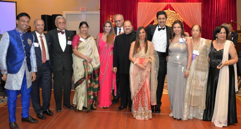 IMANE's new committee members and friends: (from left to right: Suresh Reddy,Unidentified, Onaly Kapasi; 4th: Ammani Dasari; 8th: Sapna Aggarwal; 9th Sameer Kapasi; 11th Geeta Trivedi; and