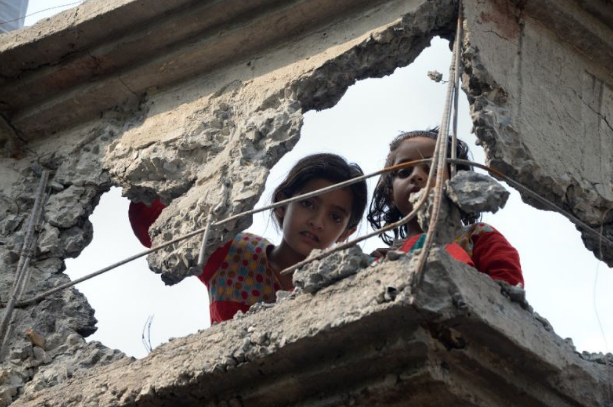 Kashmir schools destroyed (Photo courtesy: Morning Reporters)