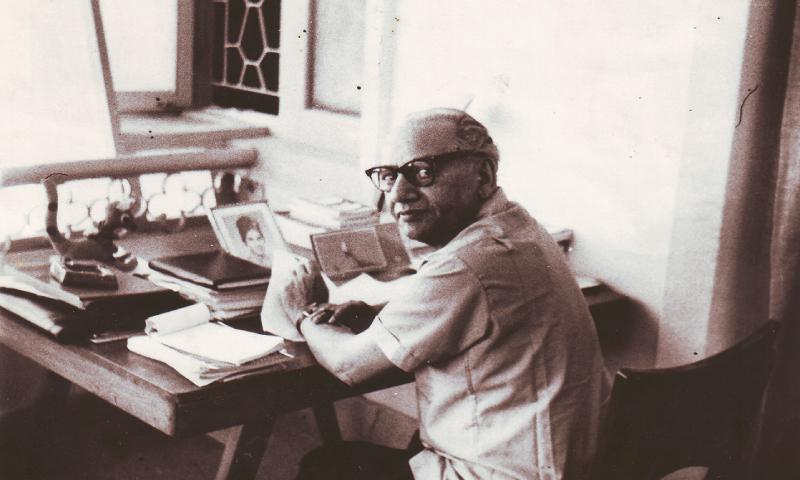 Poet Faiz Ahmed \'Faiz at work