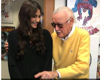 Sonam Kapoor with Stan Lee