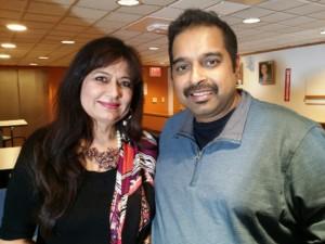 Shankar Mahadevan and Dr. Manju Sheth