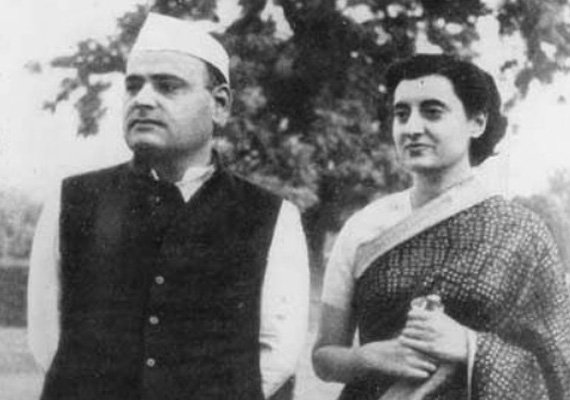 Feroze Gandhi and his wife and later Prime Minister Indira Gandhi