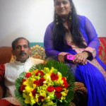 Machindra Kasture with daughter Vedvanti Kasture