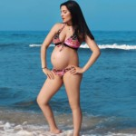 Celina Jaitly-standing-beach
