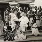 Indira Nehru with Guru Rabindranath Tagore – C -1934-35