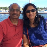 Seshi Sompuram-with wife