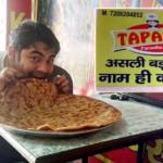 Tapasya Paratha-eating1
