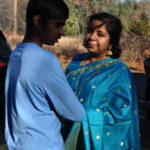 Jaya Pande With her son