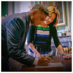 Neil Sherring signing the document.