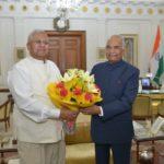 Tripura Governor Tathagata Toy with President Ram Nath Kovind.