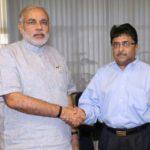 Ashok Patel with Modi