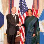 Nirmala Sitharaman-with Secretary of Defence