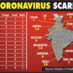 Coronavirus-India map