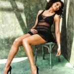 Bipasha Basu-Black Chair